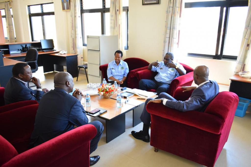 EAC Secretary General having a meeting with the LVFO Executive Secretary Mr. Godfrey Monor and LVFO Deputy Executive Secretary Dr. Oliva Mkumbo