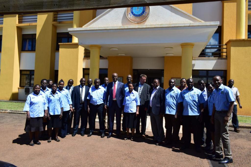 LVFO Staff group photo with EAC Secretary General